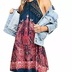 Free People NEW Blue Multi Women's Size XS